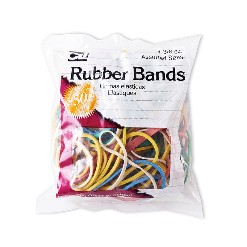 Rubber Bands, Assorted Sizes & Colors