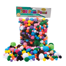 Pom-Poms, Assorted Sizes & Colors