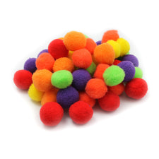 "Pom-Poms, 1"" Hot Colors"
