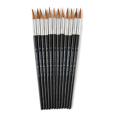 "Water Color Pointed Round Brushes, Size #10 (15/16""), Long"