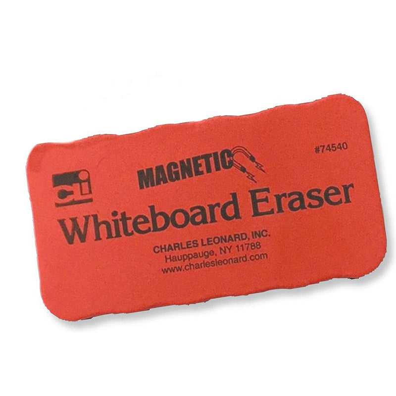 Red Magnetic Whiteboard Eraser, 12 Pack