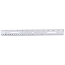 "Plastic Ruler, 12"" Clear"