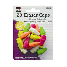 Eraser Caps, Assorted Neon