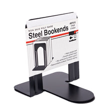 "Black Bookends 5"" Steel, Non-Skid"