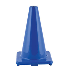 "12"" High Visibility Flexible Vinyl Cone, Blue"