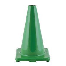 "12"" High Visibility Flexible Vinyl Cone, Green"