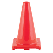 "12"" High Visibility Flexible Vinyl Cone, Orange"