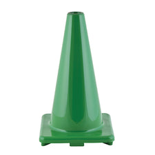 "18"" High Visibility Flexible Vinyl Cone, Green"
