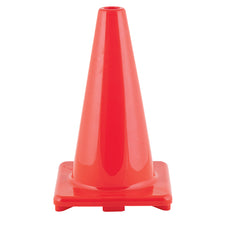 "18"" High Visibility Flexible Vinyl Cone, Orange"