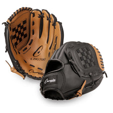 "12"" Leather & Vinyl Baseball/Softball Glove"