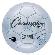 Extreme Soccer Ball, Size 4 Silver