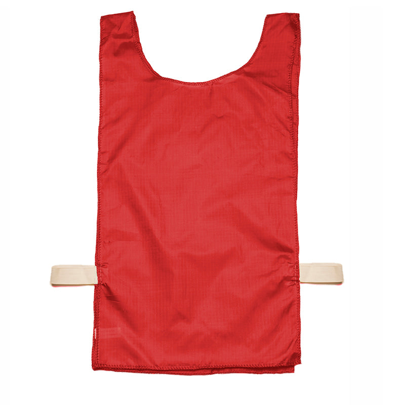Heavyweight Nylon Pinnie, Red - 12 Pack