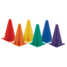 High Visibility Fluorescent Plastic Cone Set
