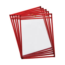 Reusable, Hangable Dry Erase Pockets, 10Pk Fluorescent Red