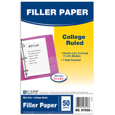 Mini Size Filler Paper, White