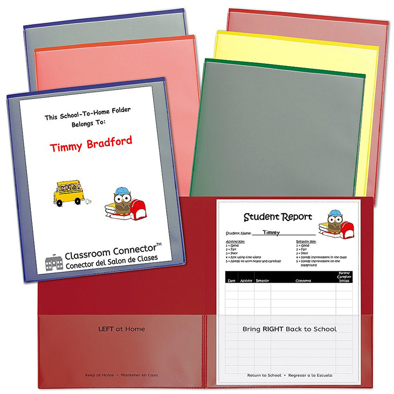 Classroom Connector Folders, 6 Pack Assorted