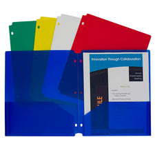 Two-Pocket Heavyweight Poly Portfolio Folder, 10 Pack