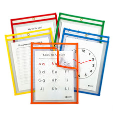 Super Heavyweight Plus Reusable Dry Erase Pockets - Study Aid, 5 Pack