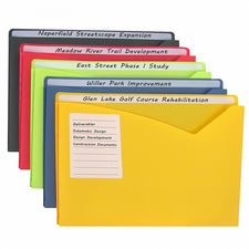 Write-on Poly File Jackets, 25 Per Box