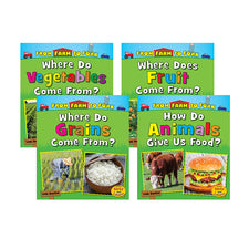 From Farm to Fork: Where Does My Food Come From? (4 Book Set)