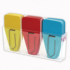 Solid Clip Tabs, 24 Pack (Red, Blue, Yellow)