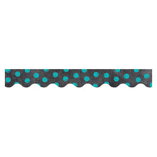Chalk It Up! Dots on Chalkboard! Turquoise Bulletin Board Border