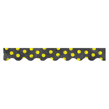 Chalk It Up! Dots on Chalkboard! Yellow Bulletin Board Border