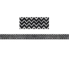 Chalk It Up! Chevron in Chalk Bulletin Board Border