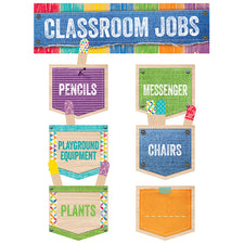 Upcycle Style Classroom Jobs Mini Bulletin Board Set