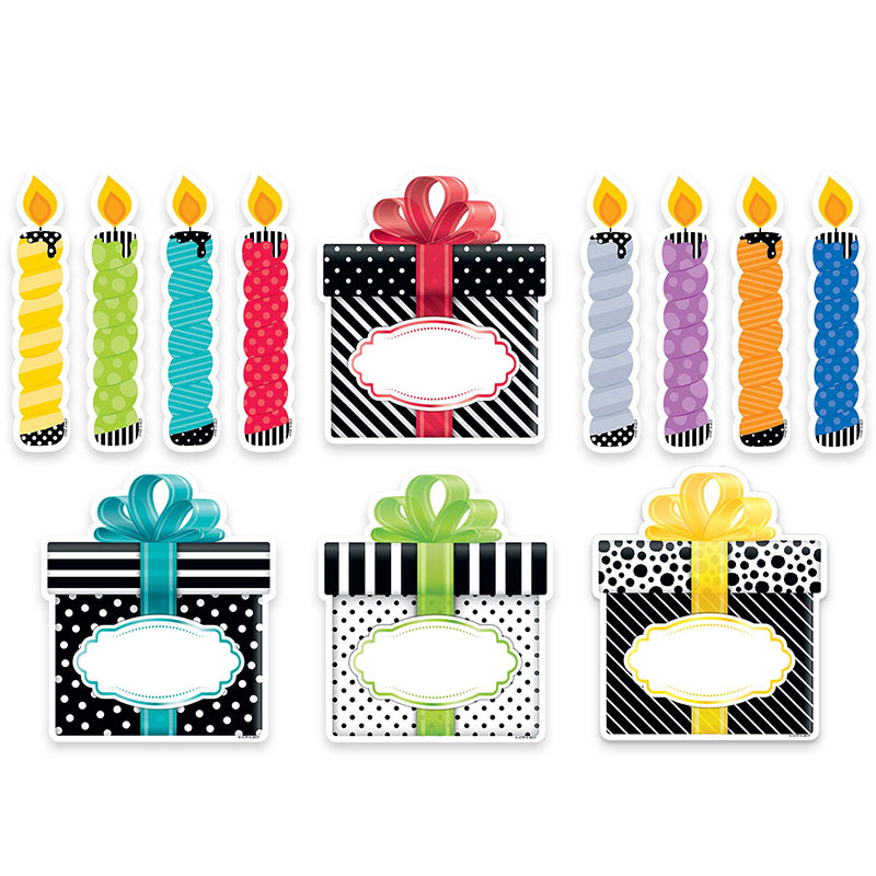 "Bold & Bright Birthday Party 6"" Designer Cut-Outs"