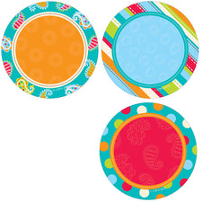 "Dots on Turquoise Dots 3"" Designer Cut-Outs"