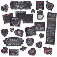Chalk It Up! Chalk Hearts Mini Bulletin Board Set