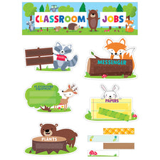 Woodland Friends Classroom Jobs Mini Bulletin Board Set