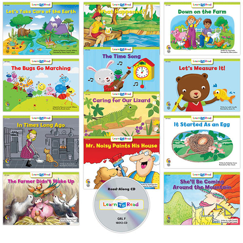 Learn to Read: Variety Pack 12 with CD, Level F