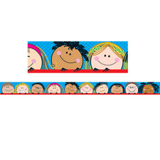 Smiling Stick Kids Bulletin Board Border, Straight