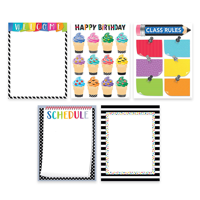 Bold & Bright Classroom Essentials 5-Chart Pack