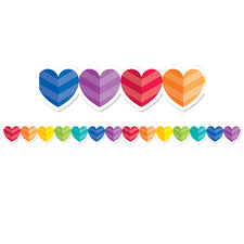 Rainbow Hearts Bulletin Board Border