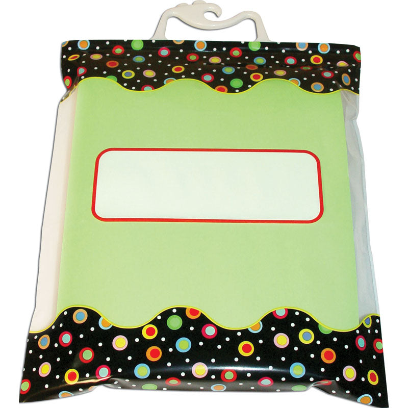 "Dots on Black Storage Bags, 10.5"" x 12.5"""