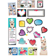 Bold & Bright Happy Va-llama-Tine's Day Mini Bulletin Board Set