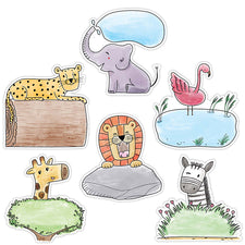 "Safari Friends 6"" Designer Cut-Outs"