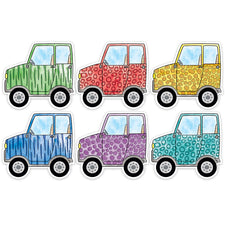 "Safari Friends Off-Road Vehicles 6"" Designer Cut-Outs"