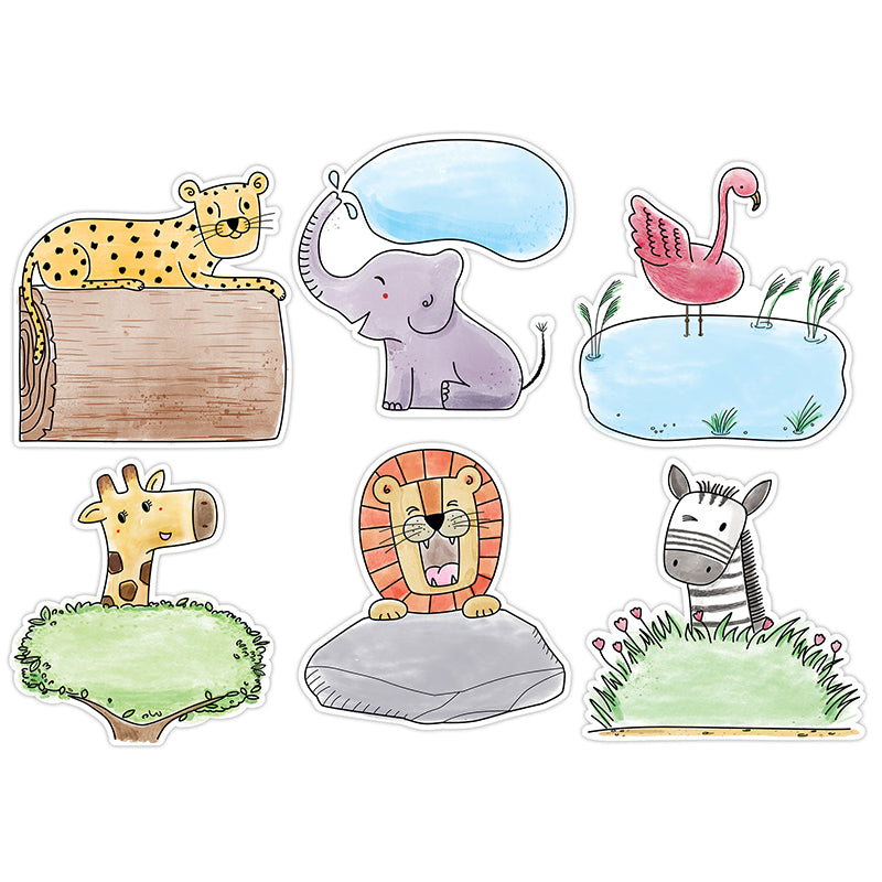 "Safari Friends 10"" Designer Cut-Outs"
