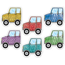 "Safari Friends Off-Road Vehicles 3"" Designer Cut-Outs"