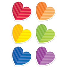 "Rainbow Hearts 6"" Designer Cut-Outs"