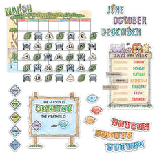 Safari Friends Calendar Bulletin Board Set