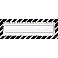 Bold & Bright Bold Stripes & Dots Name Plates