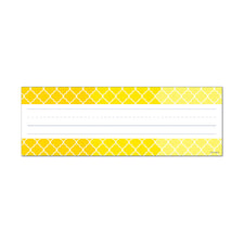 Painted Palette Ombre Yellow Moroccan Name Plates