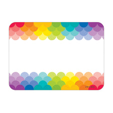 Painted Palette Rainbow Scallops Labels