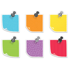 "Bold & Bright Sticky Notes 6"" Designer Cut-Outs"