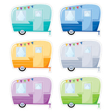 "Woodland Friends Vintage Trailers 6"" Designer Cut-Outs"